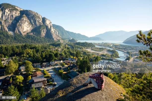 stawamus chief squamish howe sound - british columbia stock pictures, royalty-free photos & images