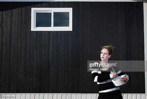 stay at home goth mom - shunting yard stock photos and pictures