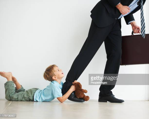 stay at home with me daddy! - dragging stock pictures, royalty-free photos & images
