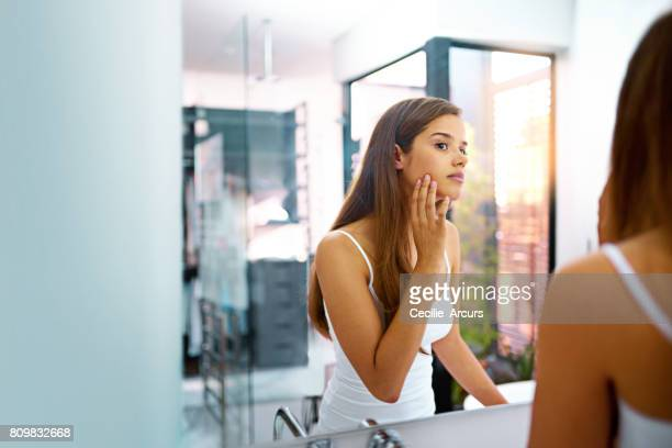 stay blemish-free - mirror stock photos and pictures