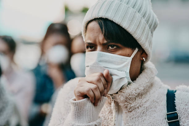 stay covered and stop the spread - tuberculosis stock pictures, royalty-free photos & images