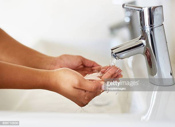 Stay healthy by washing your hands