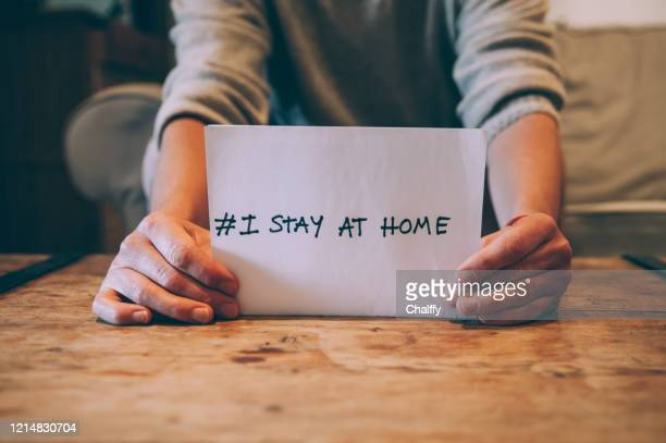 stay home,stay safe - illness prevention stock pictures, royalty-free photos & images