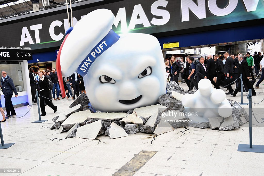 Ghostbusters Takes Over Waterloo Station : ニュース写真