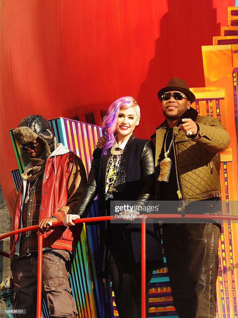 Stayc Reign and Flo Rida attend 86th Annual Macy's Thanksgiving Day Parade on November 22, 2012 in New York City.