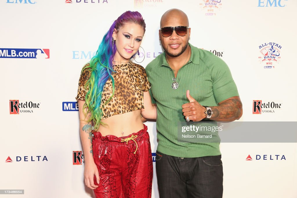 Stayc Reign and rapper Flo Rida attends Major League Baseball's All Star Bash presented by MLB.com, Delta and Nivea on JULY 14, 2013 in New York City.