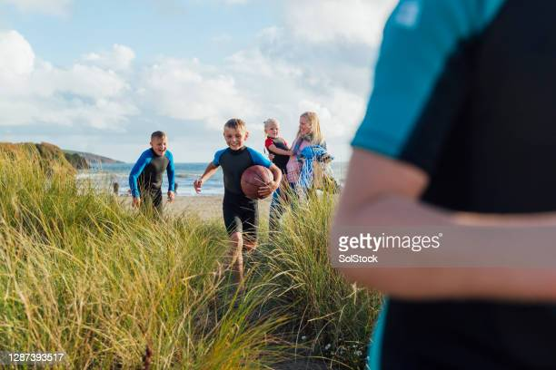 staycation in cornwall - beach stock pictures, royalty-free photos & images