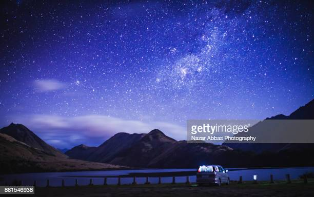 Staying and stargazing at Lake Moke, Queenstown, South Island, New Zealand.