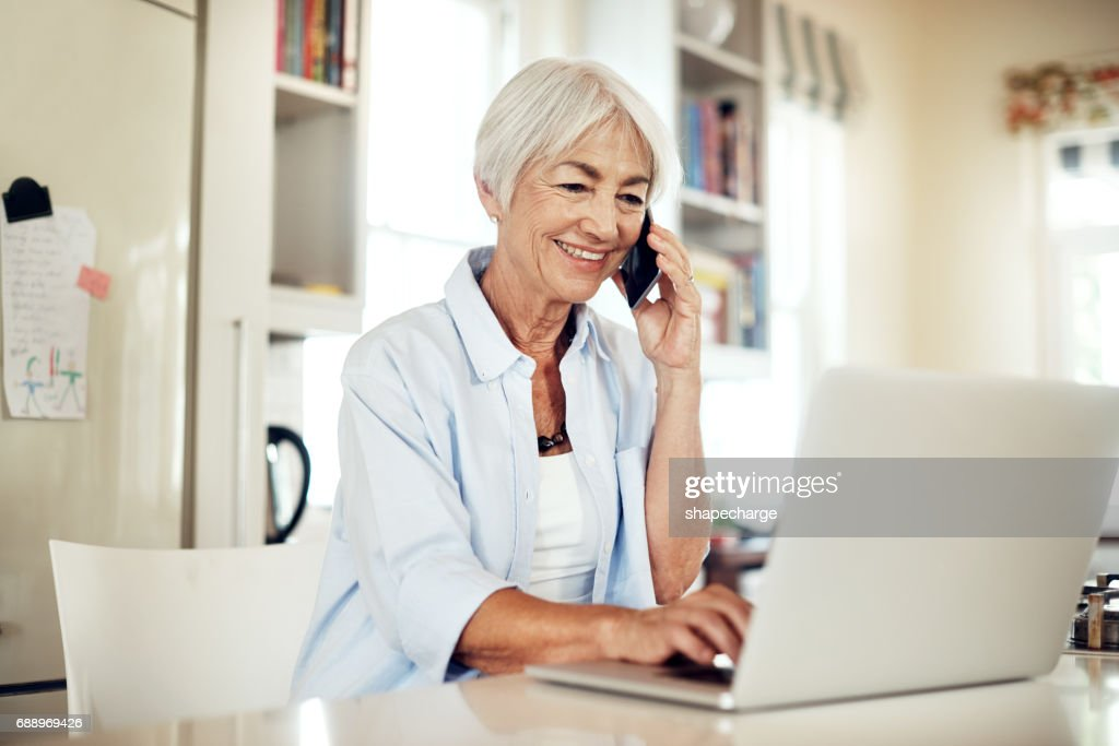 Staying engaged and social : Stock Photo
