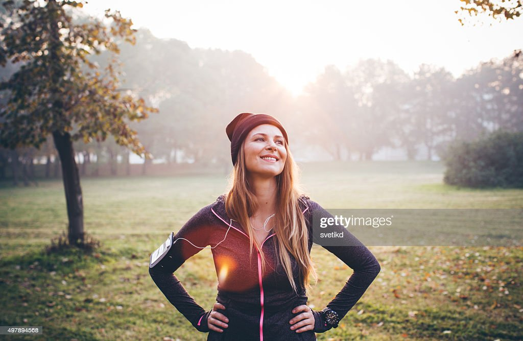 Staying fit and healthy. : Stock Photo
