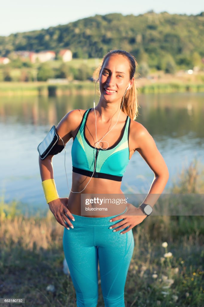 Staying fit and healthy. : Stockfoto
