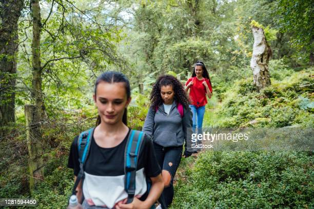 staying healthy together - teenage girls stock pictures, royalty-free photos & images