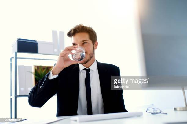 Staying hydrated on his business