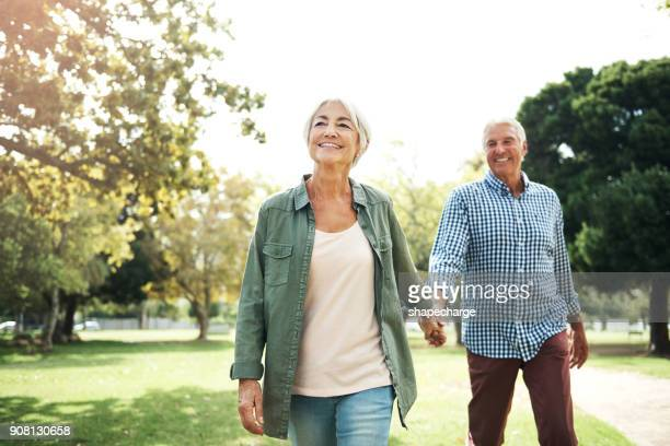 staying in love is something very special - active senior stock photos and pictures