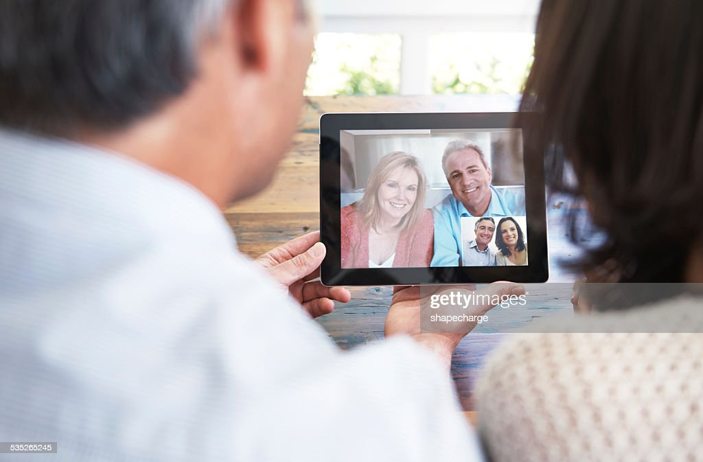 Staying in touch : Stock Photo
