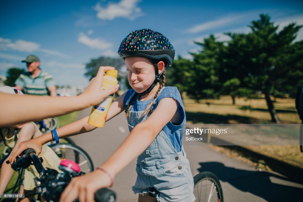 Staying Protected from the Sun : Stock Photo