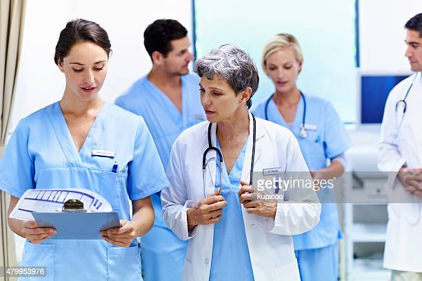 Staying updated on their patient's conditions