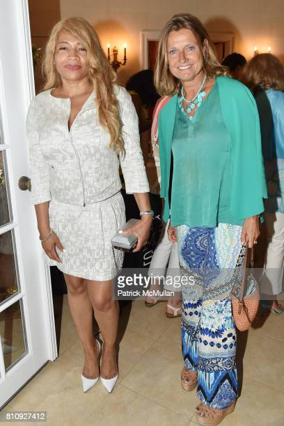 Stayja Means and Carine de Meyer attend Katrina and Don Peebles Host NY Mission Society Summer Cocktails at Private Residence on July 7 2017 in...