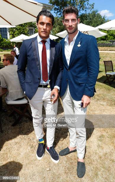 Staz Nair and Ryan Barrett attend Cartier Style Et Luxe at The Goodwood Festival Of Speed Goodwood on July 15 2018 in Chichester England