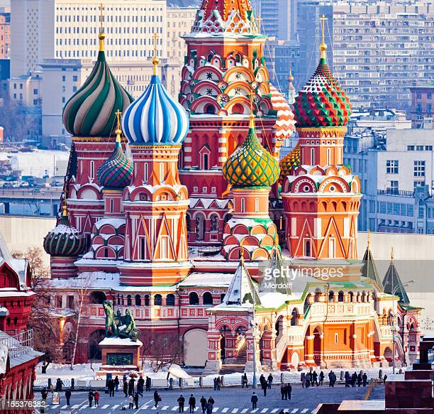 St.Basil Cathedral at Red Square in Moscow