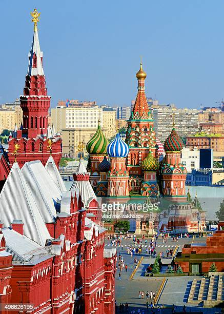 st.basil cathedral in red square - red square stock pictures, royalty-free photos & images
