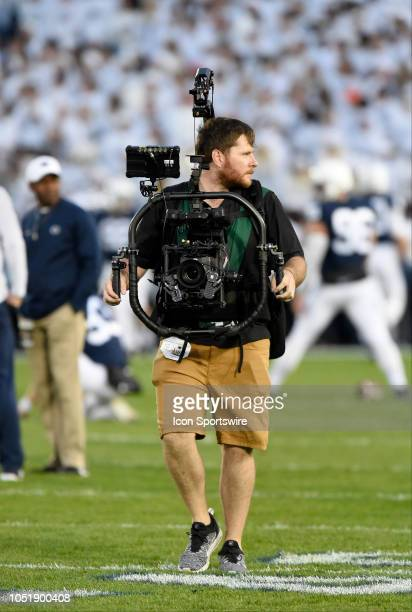 Steadicam operator films on the field with an Arri Alexa Mini on a MoVI Pro gimbal camera stabilization device The Ohio State Buckeyes defeated the...
