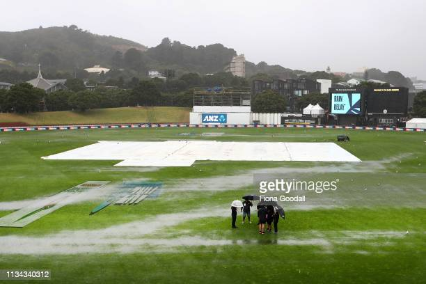 Steady heavy rain is expected to disrupt any play today during day 1 of the second Test Series between New Zealand and Bangladesh at Basin Reserve on...