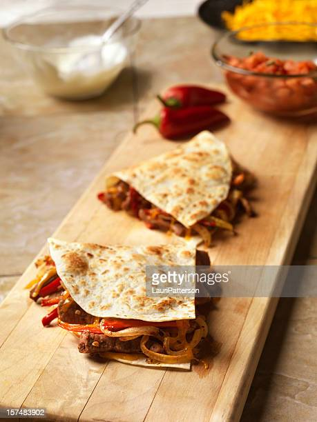 Steak and Peppers Quesadilla