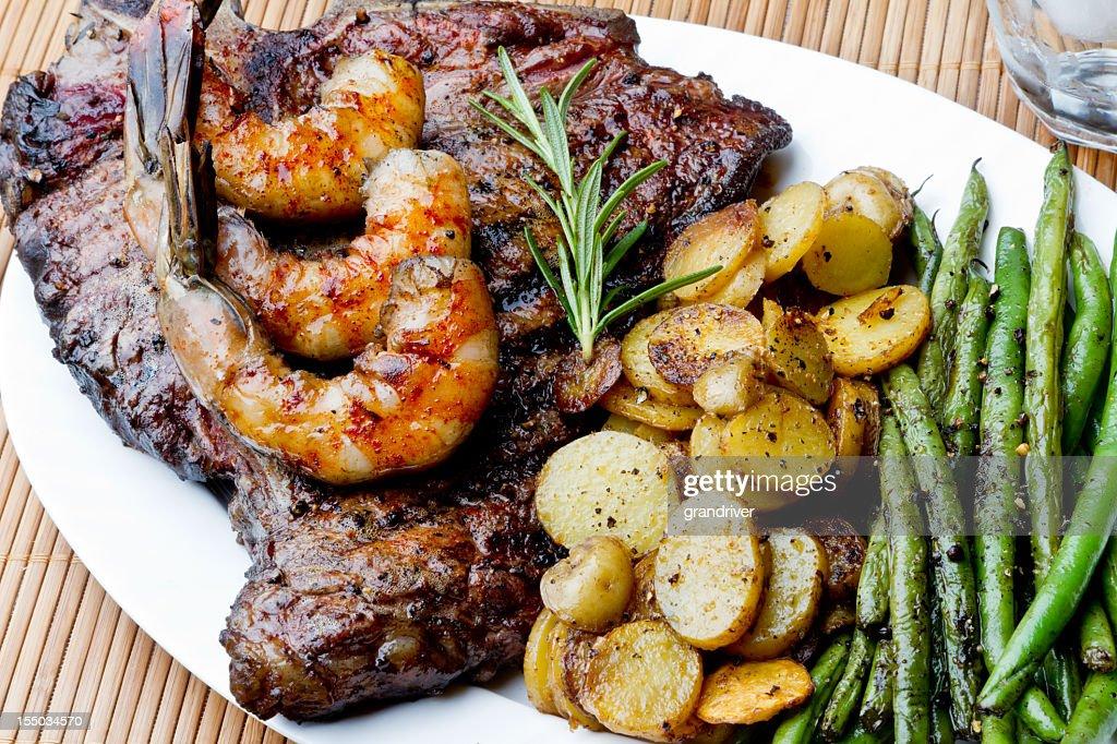 Steak and Shrimp : Stock Photo