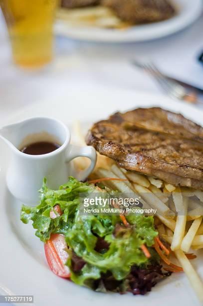 Steak & Chips & salad