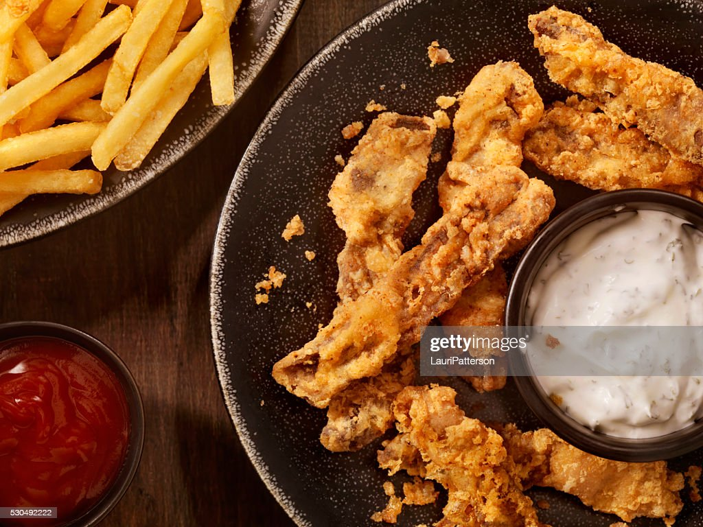 Steak Fingers with French Fries : Stock Photo