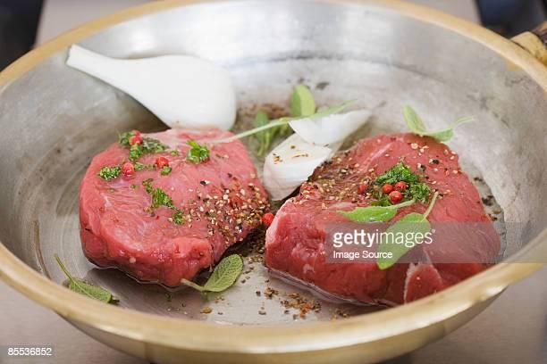 Steak in a marinade