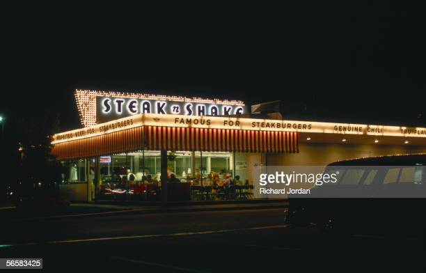A Steak 'n' Shake diner 'famous for steakburgers' in Springfield Missouri one of the stops along Historic Route 66 1989