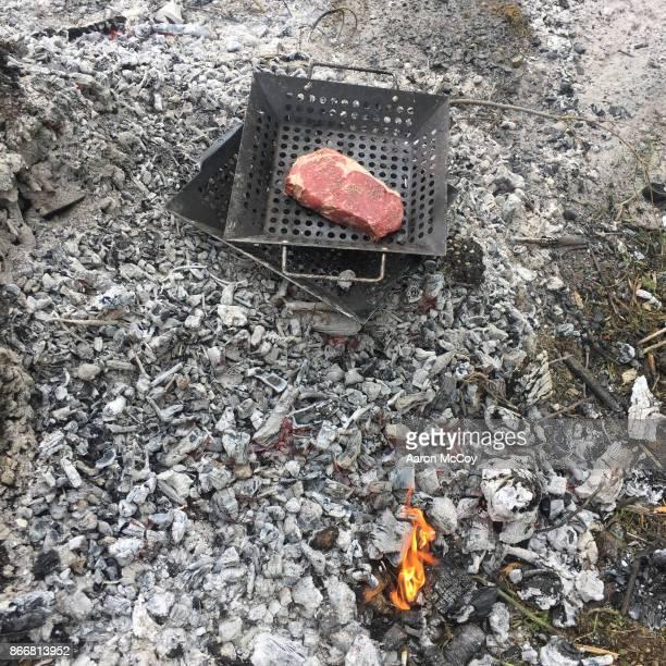 Steak on coals