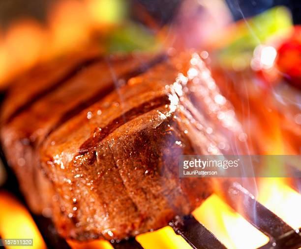 BBQ Steak on the Grill