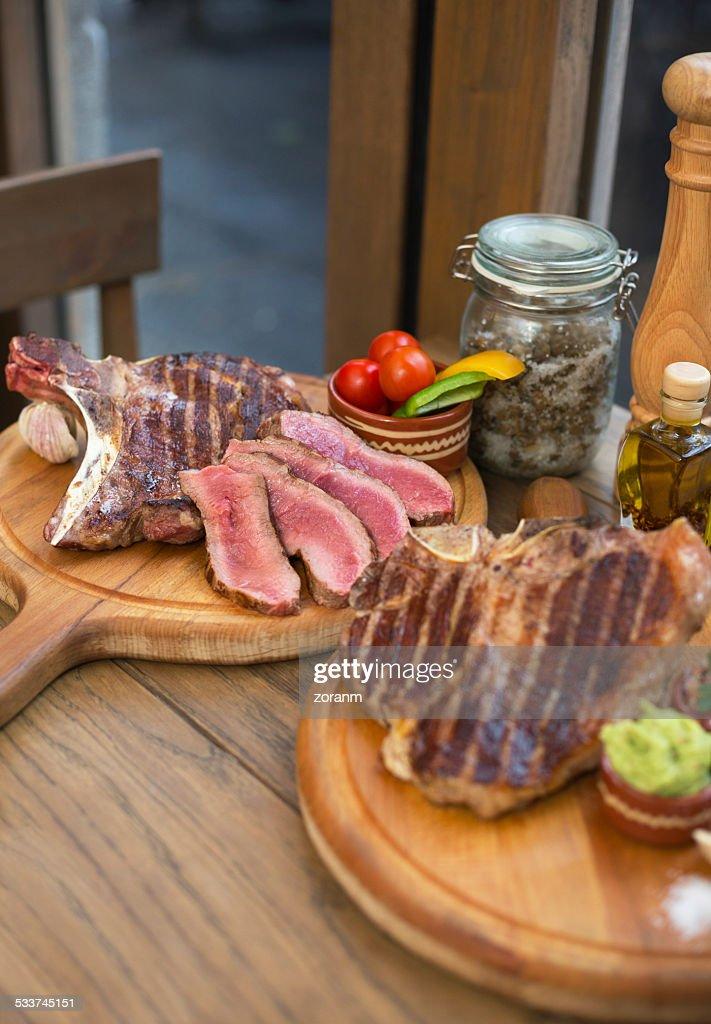 Bistecca di manzo : Foto stock