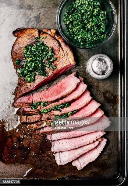 steak - pesto stock pictures, royalty-free photos & images