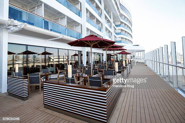 Steak restaurant at the AIDAprima Cruise Ship Baptism on May 7 2016 in Hamburg Germany