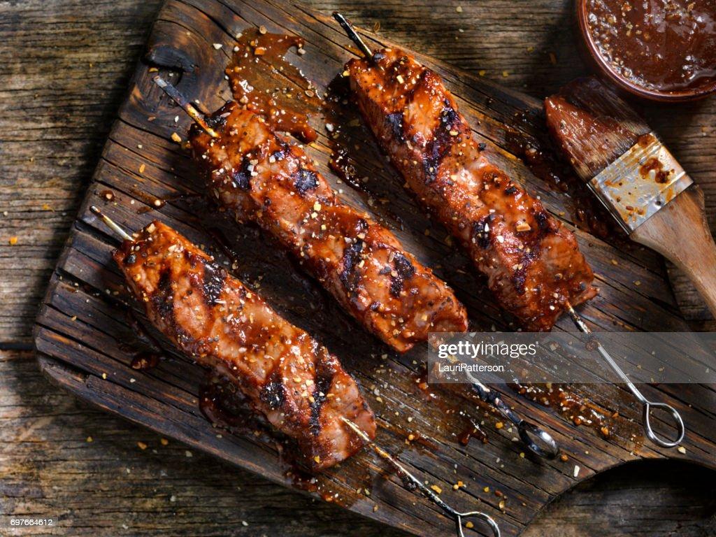 BBQ Steak Skewers : Stock Photo