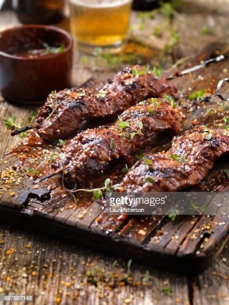 BBQ Steak-Spieße
