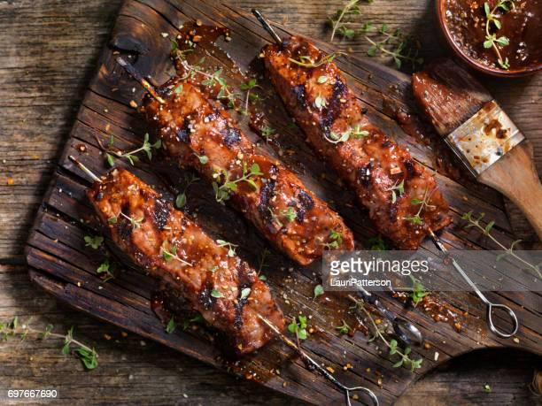 BBQ Steak Skewers