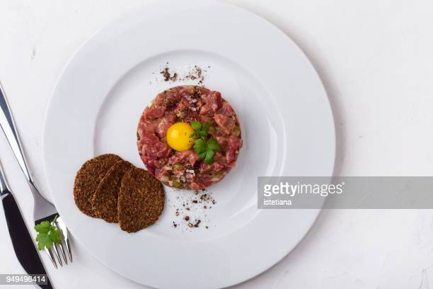 steak tartare, gourmet meal - french food stock pictures, royalty-free photos & images