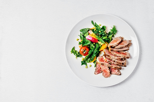 Steak with salad - gettyimageskorea