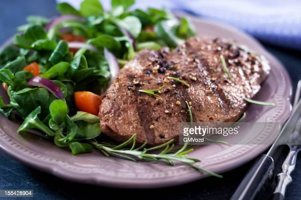 Steak with Spring Salad