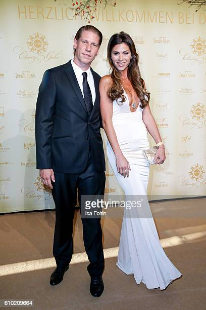 Steakhouse owner Tim Buergin and his wife Diana Buergin attend the7th VITA Charity Gala in Wiesbaden on September 24 2016 in Wiesbaden Germany