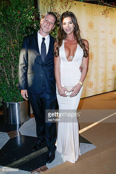 Steakhouse owner Tim Buergin and his wife Diana Buergin attends the7th VITA Charity Gala in Wiesbaden on September 24 2016 in Wiesbaden Germany