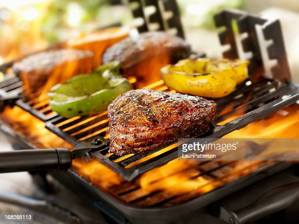 Steaks on a Outdoor BBQ
