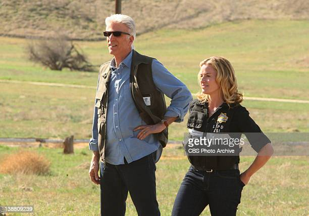 "Stealing Home"" -- D.B. Russell and Julie Finlay smile in disbelief after seeing a crime scene, on CSI: CRIME SCENE INVESTIGATION, Wednesday, Feb. 22..."
