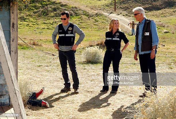 Stealing Home Nick Stokes Julie Finlay and DB Russell all want some questions answered as they piece things together at a crime scene on CSI CRIME...