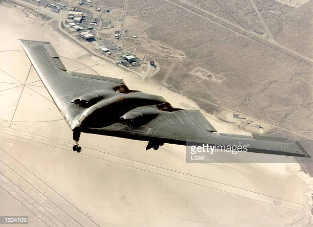 B2 stealth bomber is run on a flight test March 3 1999 at Edwards Air Force Base CA The B2 the world''s most expensive aircraft has controversy...